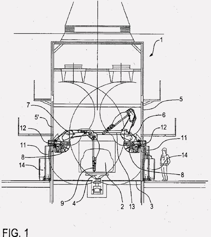 Instalación de revestimiento y procedimiento de revestimiento en serie de piezas.
