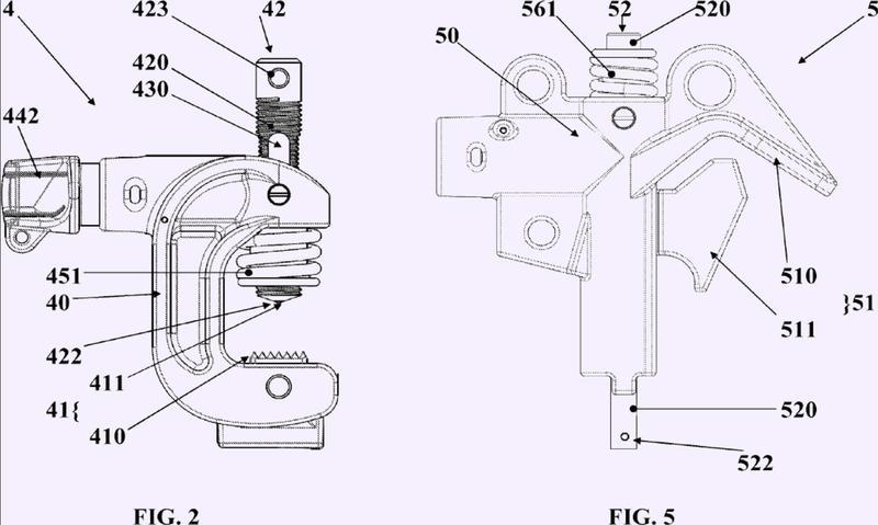 Dispositivo de puesta a tierra de un conductor eléctrico de una línea eléctrica aérea.