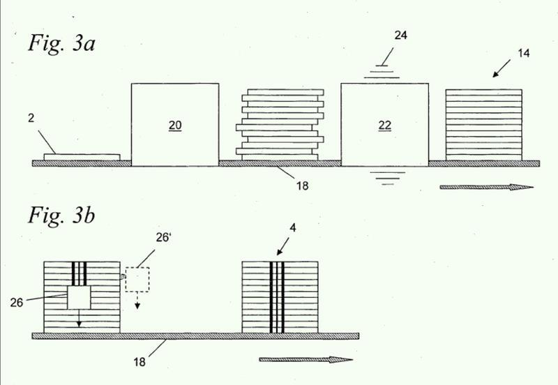 Procedimiento y dispositivo para marcar una pila de elementos de tipo plancha, pila dotada de un marcado así como elemento de tipo plancha.