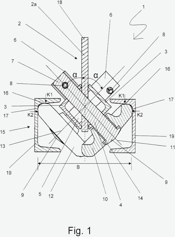 Sistema de guiado con caballete portapoleas, en particular para el guiado y fijación de una plataforma de montaje a través de un riel de rodadura.