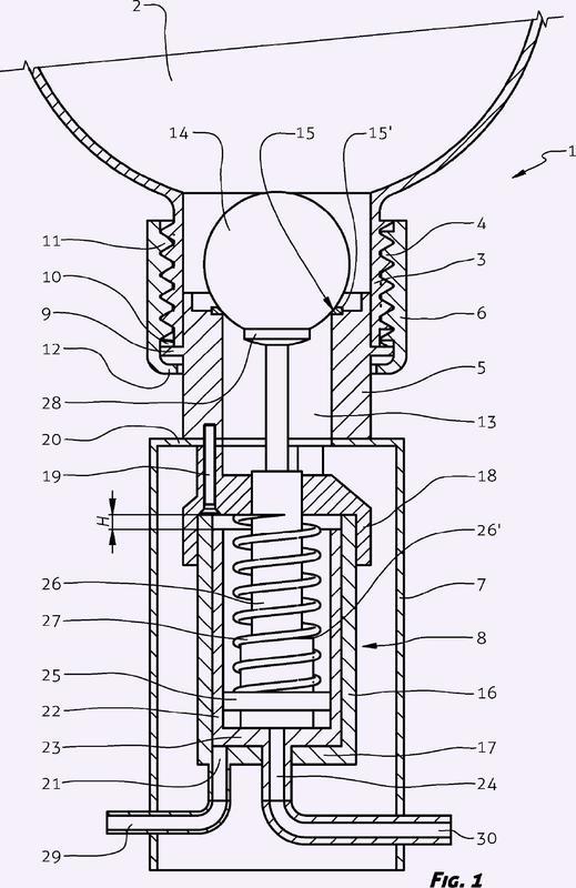 Tanque de cisterna con válvula de descarga y mecanismo de activación para el mismo.