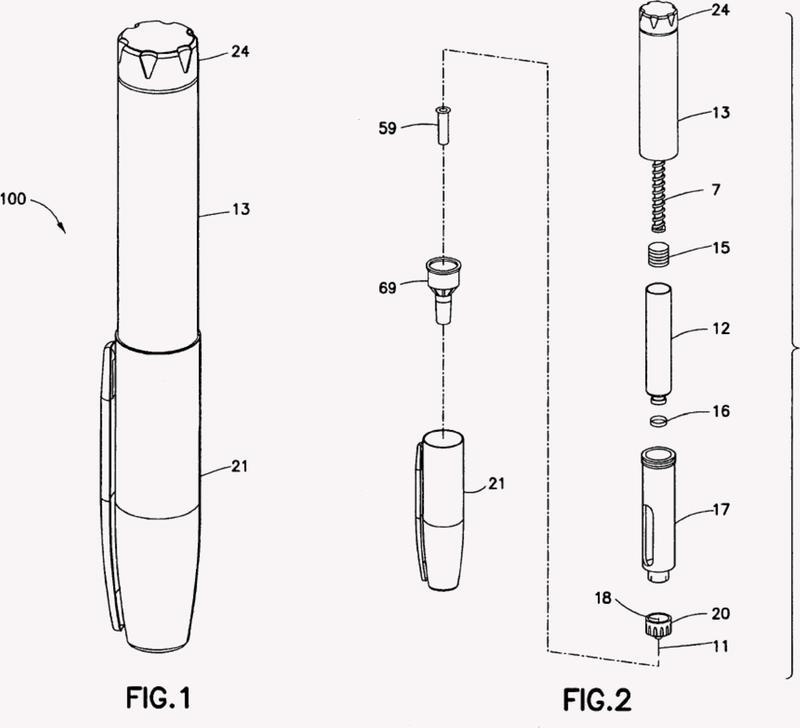 Dispositivo de fuerza adicional para pluma de administración de medicamento para inyección de medicación intradérmica.