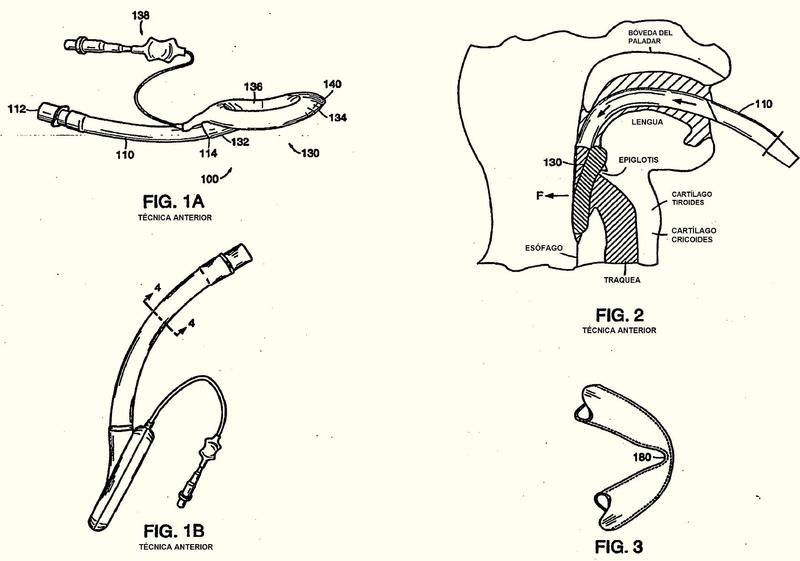 Dispositivo de máscara laríngea para las vías respiratorias.
