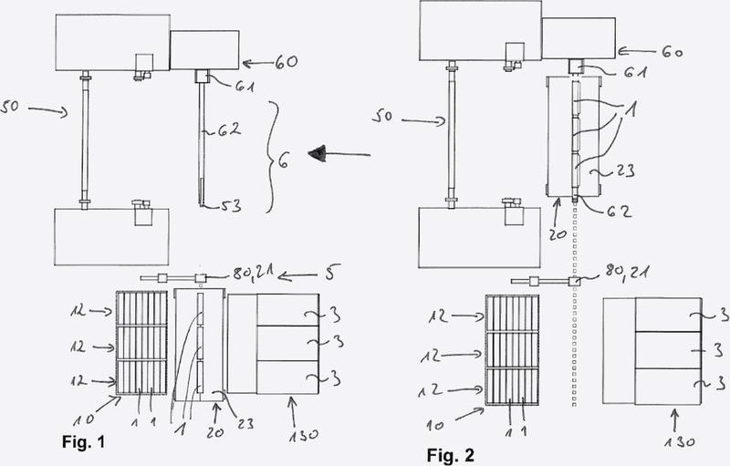 Sistema de manipulación de bobinas con un árbol de bobinado fijado de manera separable por un lado.