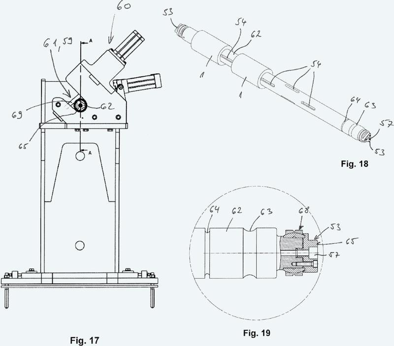 Sistema de manipulación de bobinas para un bobinador con una unidad de alojamiento configurada con medios de posicionamiento, así como procedimiento asociado.
