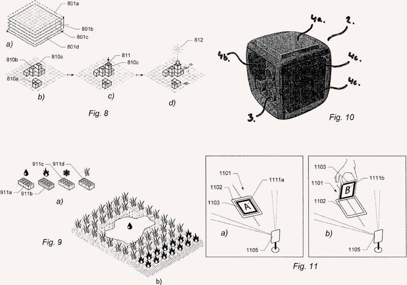 Un sistema de construcción de juguete para realidad aumentada.