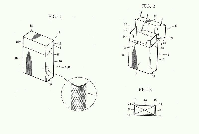 Paquete de artículos para fumar con forma de varilla y su pieza de partida.