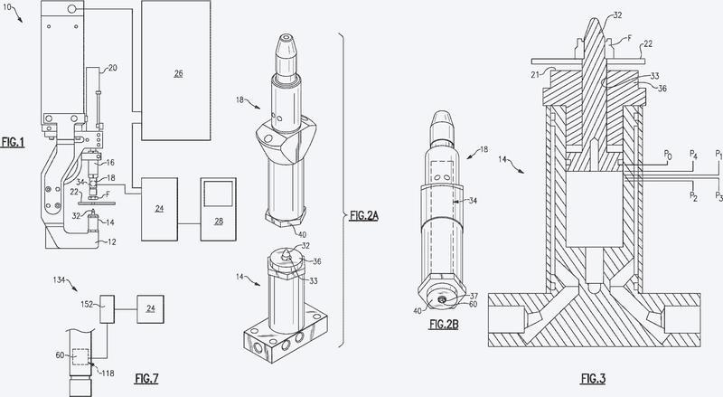 Máquina de soldadura con detección indirecta de la posición del elemento de sujeción de soldadura.