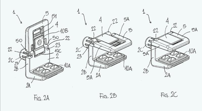 Dispositivo de fijación para estantes de mueble o estantes de pared.