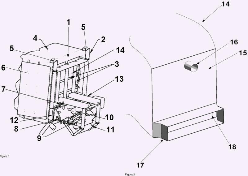 Sistema para la descarga de material a granel de un recipiente de transporte, en particular, un contenedor.