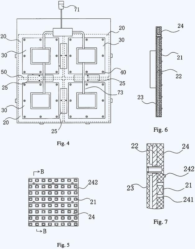Pantalla de visualización LED flexible.