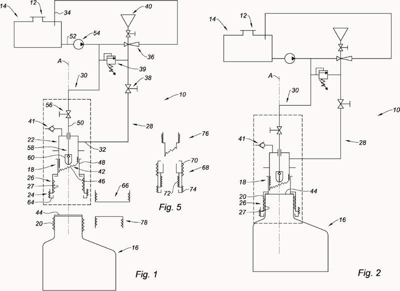 Dispositivo para la transferencia de un líquido desde un bidón hasta un depósito de manera estanca.