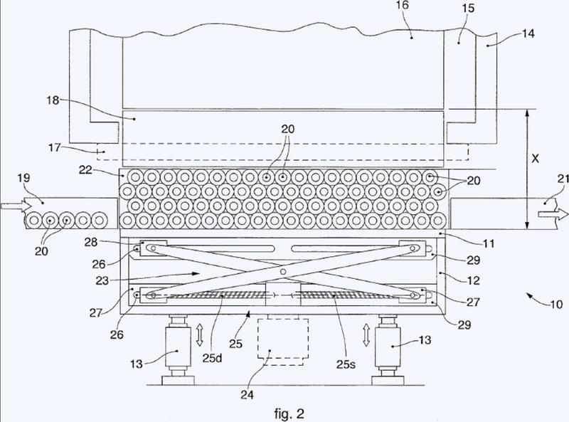 Dispositivo para introducir botellas en una cámara de liofilización.
