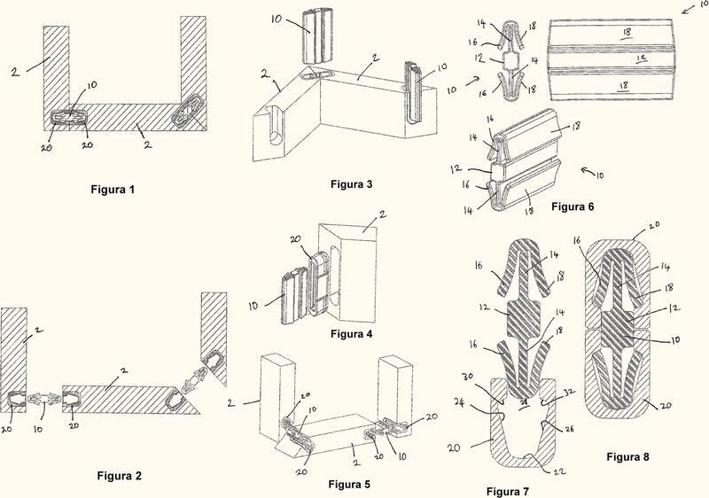 Conjunto conector para un mueble.