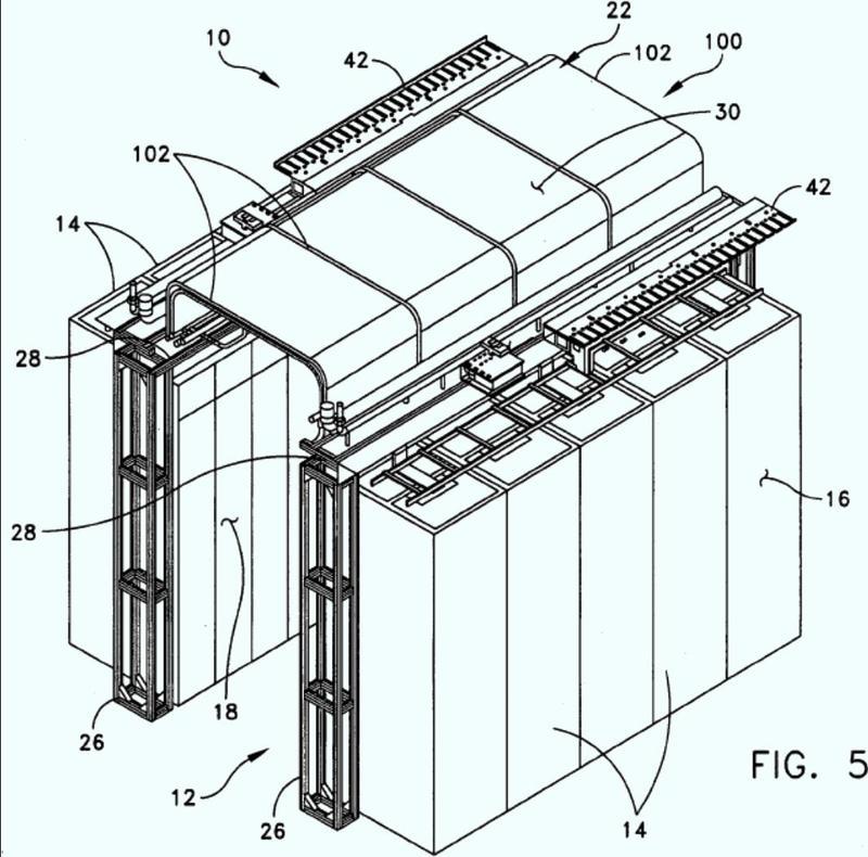 Sistema de refrigeración de contención de pasillos calientes y método.