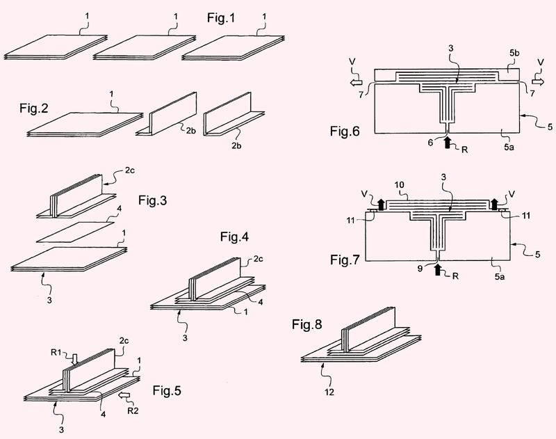 Un método de fabricación de una pieza de material compuesto reforzado.