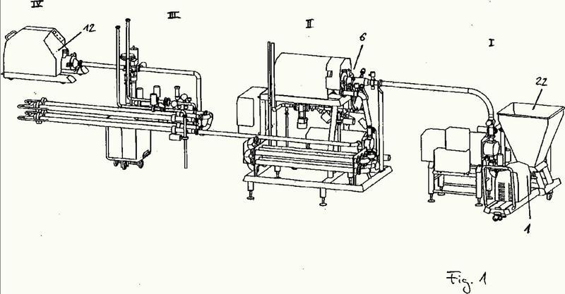 Procedimiento y dispositivo para la producción de alimentos en puré.