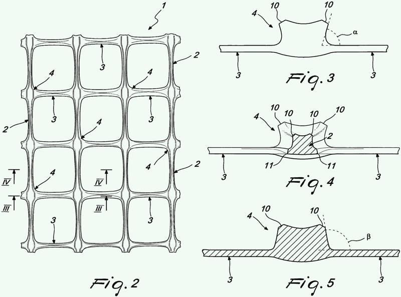 Elemento en forma de lámina para reforzar, separar y drenar grandes estructuras, tales como terraplenes de carreteras.