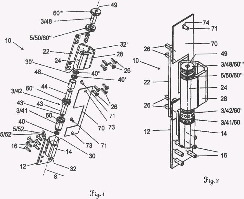 Bisagra con elementos de ajuste y corona de ajuste para dichos elementos de ajuste.