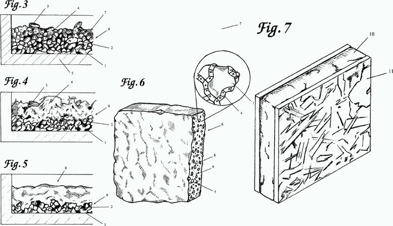 Método para producir materiales en crecimiento y productos hechos con los mismos.