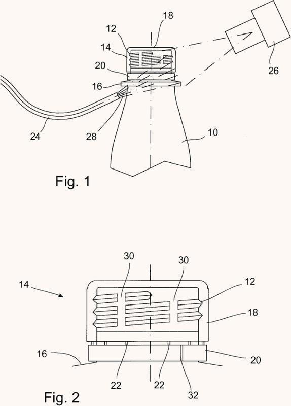 Procedimiento y dispositivo para la comprobación, sin contacto, de un momento de torsión de un tapón de rosca.