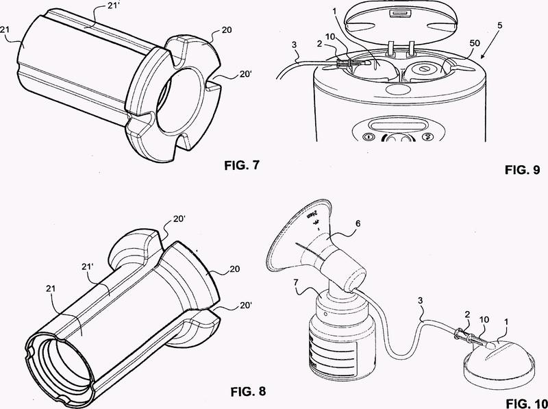 Dispositivo para la conexión de un conducto flexible de aspiración.