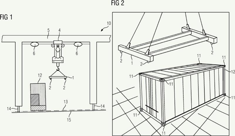 Método para la determinación óptica, automática, de una posición objetivo para un dispositivo de elevación de contenedores.