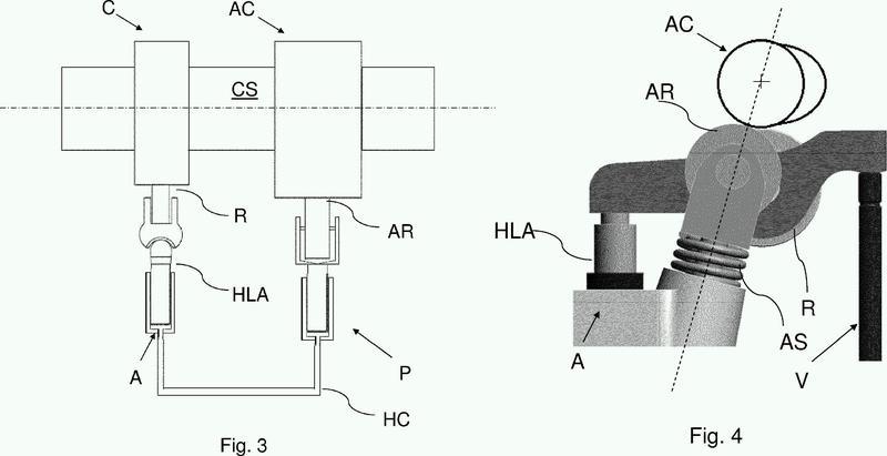 Conjunto de control auxiliar para controlar la apertura/cierre de las válvulas de impulsión de un motor de combustión, en particular para una operación de freno de motor por descompresión.