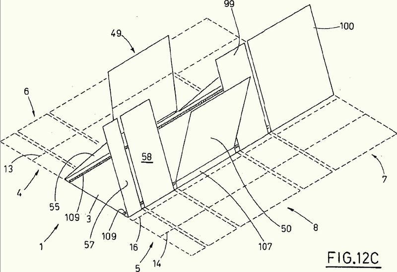 Un método para realizar cajas de cartón para embalaje y un aparato que pone en práctica el método.