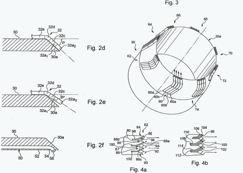 Dispositivo de reducción del ruido generado por un reactor de aeronave con chorros de fluido de la misma orientación.