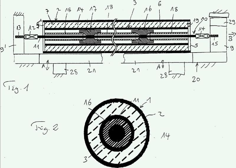 Procedimiento y dispositivo para la fabricación de una tubería aislada térmicamente.