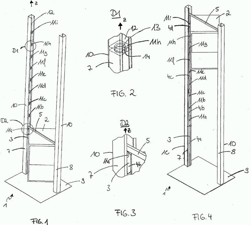 Dispositivo y procedimiento para mover un elemento de transporte de un montacargas o de un ascensor.