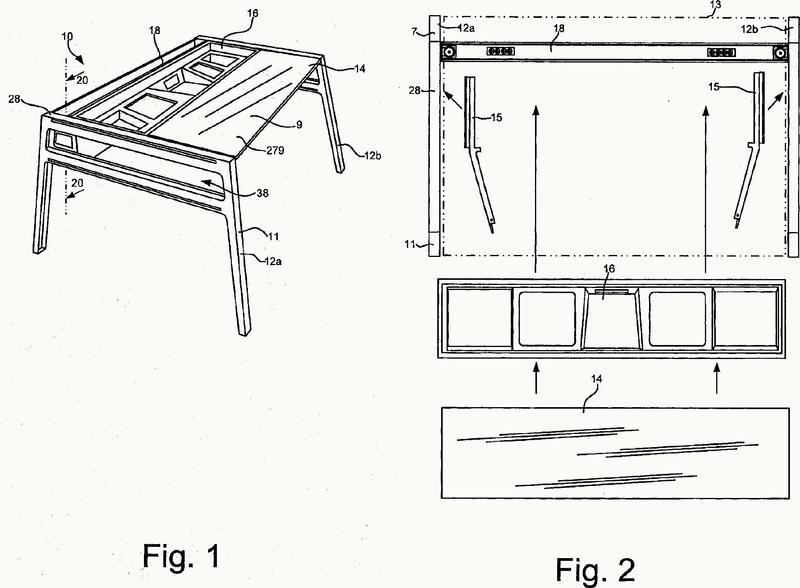 Conjuntos de mesas reconfigurables.