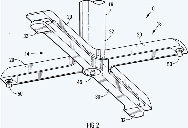 Conjunto de soporte de autoestabilización para un mueble.