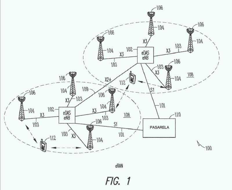 Estación base mejorada y método de comunicación mediante un sistema de antenas distribuidas mejorado (EDAS).