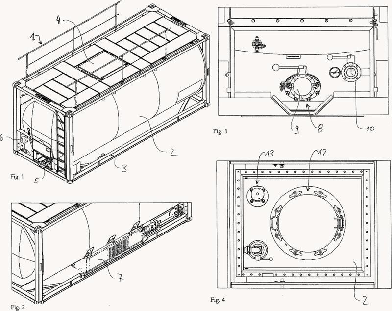 Disposición de cierre para un recipiente, disposición de abertura de acceso, contenedor-cisterna y procedimiento para el transporte de alimentos con los mismos.