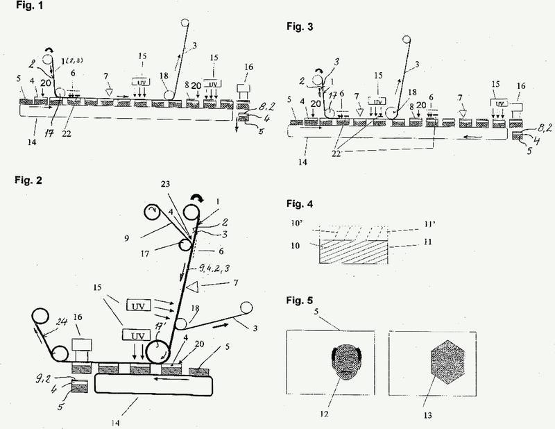 Procedimiento para la fabricación de documentos con un holograma así como documento con holograma.