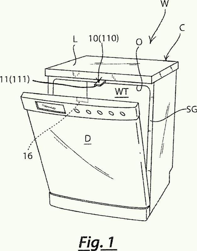 Dispositivo para cerrar la puerta de un aparato electrodoméstico, en particular para una máquina para lavar, tal como un lavavajillas.