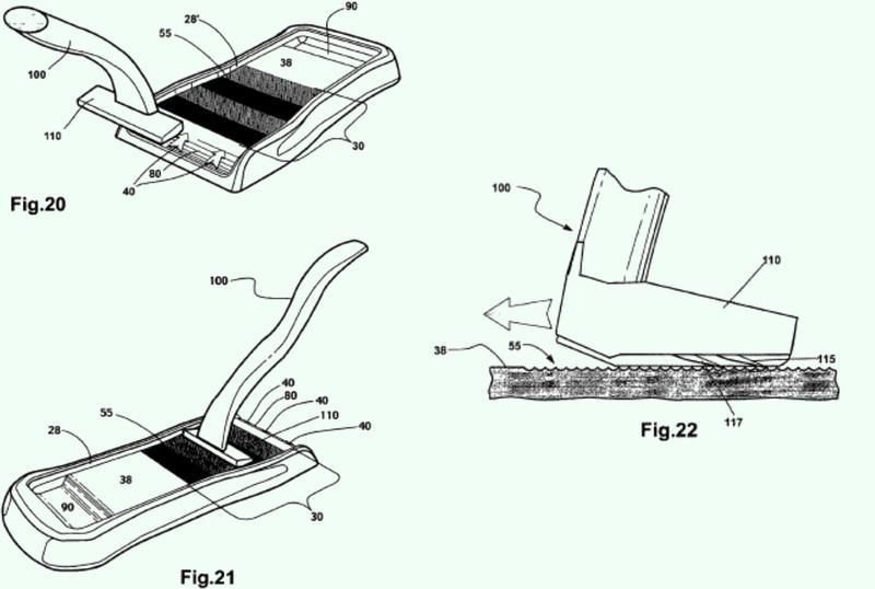 Dispositivo para tratar cuchillas para mejorar sus propiedades de corte.
