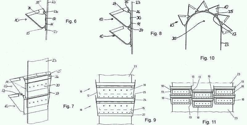 Elevador de cangilones con correa protegida por la línea de cangilones.