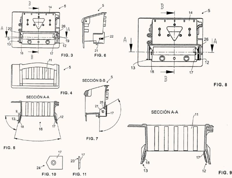 Dispositivo para introducir billetes de banco en un aparato de procesamiento de estos billetes.