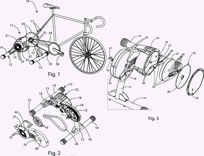 Dispositivo de entrenamiento para ciclistas.