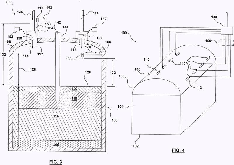 Medida del nivel del banco de carga de un horno metalúrgico.