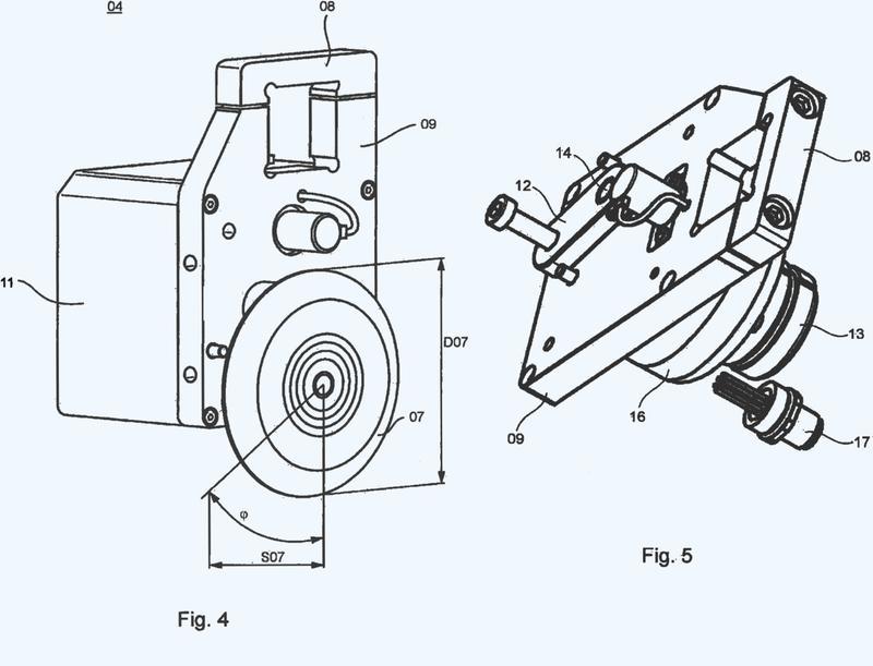 Dispositivo con una unidad de control y con un regulador de banda impresa, que presenta varias unidades de ajuste, de una impresora.