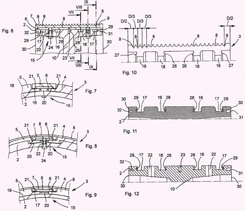 Rodillo o tambor de guía de alambre para guiar alambres de diamante en máquina de múltiples alambres para cortar bloques de piedra natural o artificial.