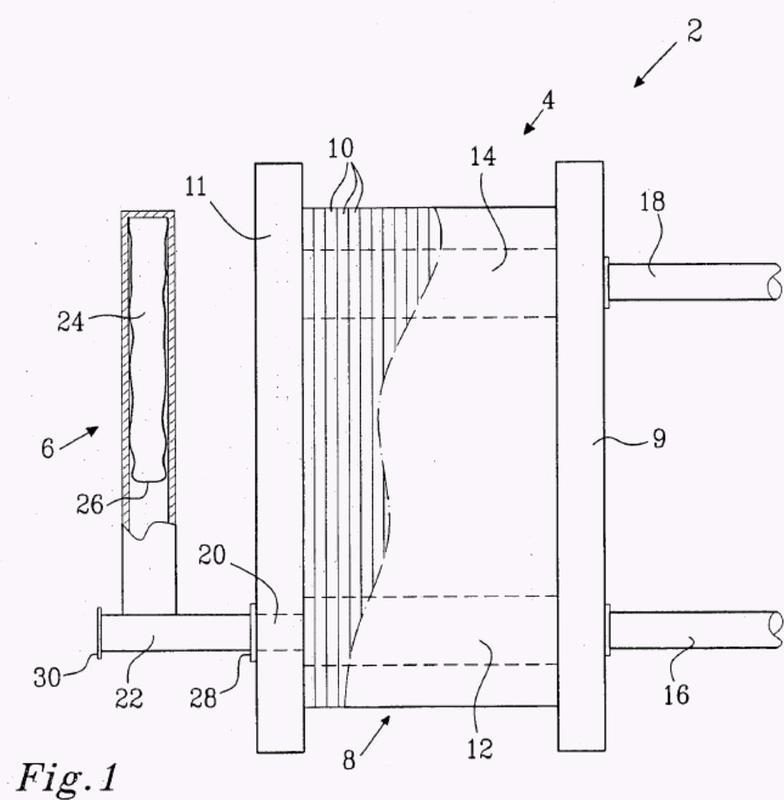 Un conjunto de intercambiador de calor y uso de un aparato en un conjunto de intercambiador de calor.