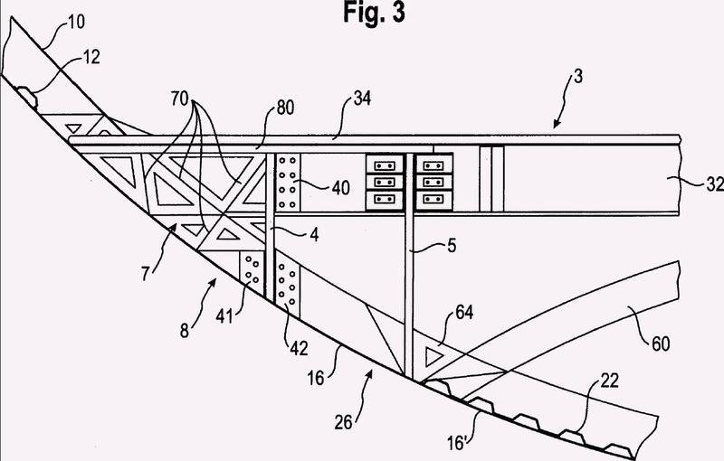 Aeronave con una estructura de deformación integrada absorbedora de energía y aeronave con un fuselaje de esta clase.