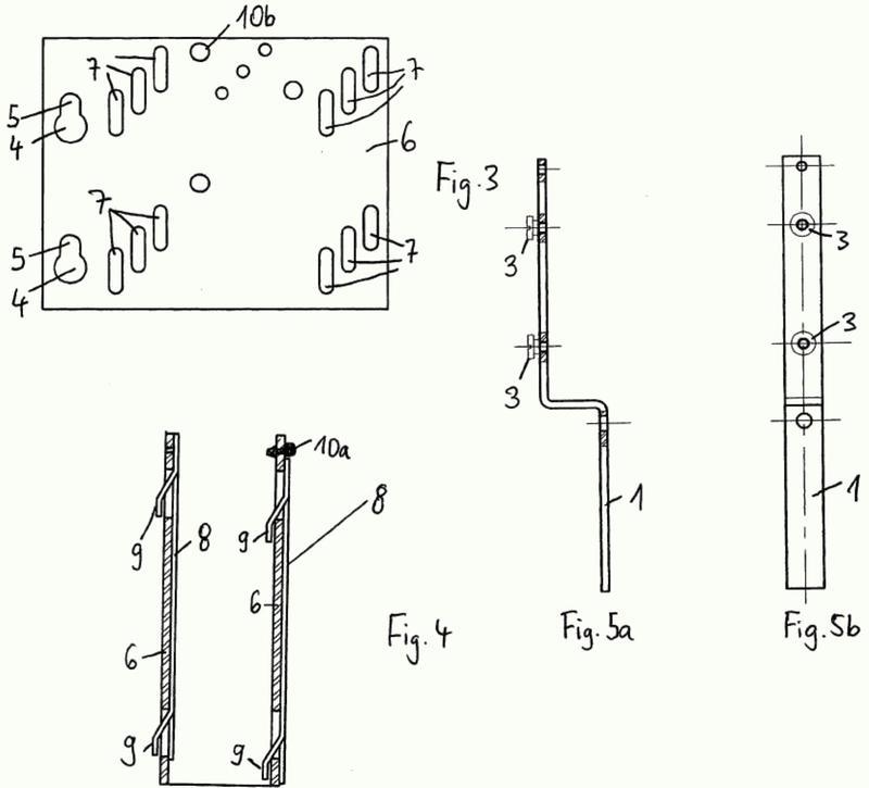 Dispositivo de soporte para mecanismo de persiana enrollable.