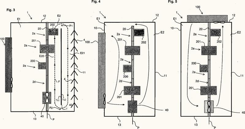 Armario eléctrico con disipación térmica mejorada.