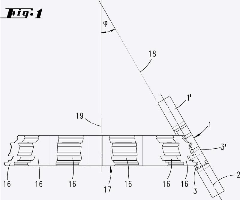 Procedimiento de perfilado de los lados anchos de una llave plana reversible y llave plana reversible.